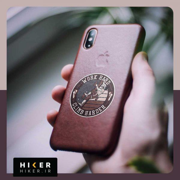 استیکر هایکر روی موبایل